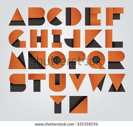Collection of alphabet letters, abstract fonts set. Vector illustration - stock vector