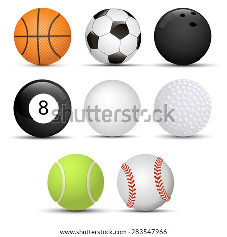 collection of balls - stock vector