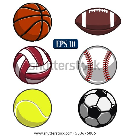 Collection Of Balls,sports Balls, Vector Ball,white  Background,volleyball,basketball