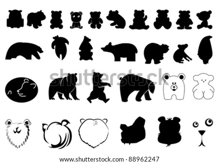 collection of bear symbols