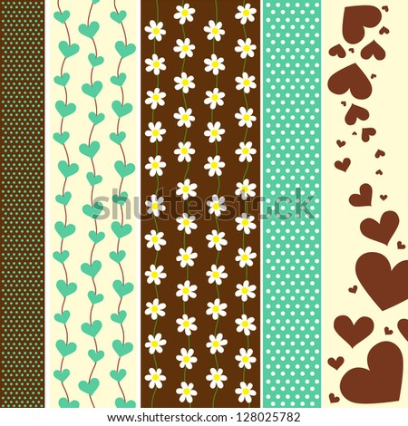 Collection of beautiful vector elements with spring flowers and - stock vector