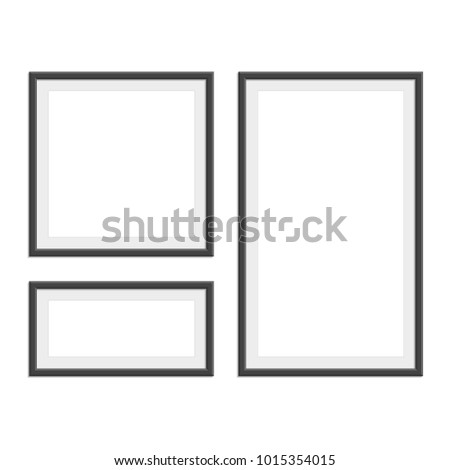 Collection Black Photo Frames Different Sizes Stock Vector ...