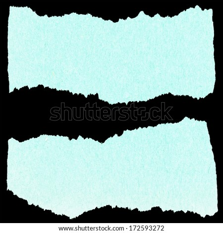 collection of blue torn paper - stock vector