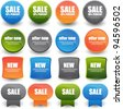 collection of bright web label/sticker/badges and tags vector - stock photo