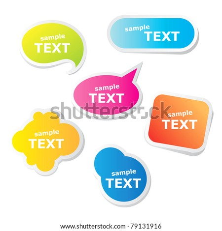 Collection of bubbles for speech. Vector. - stock vector