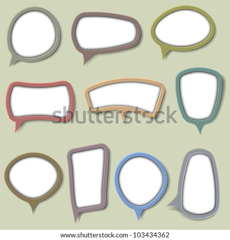 Collection of bubbles for speech.Vector eps 10 - stock vector