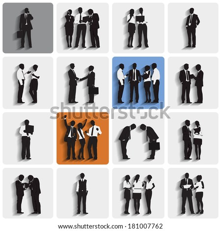 Collection of Business People Vector - stock vector