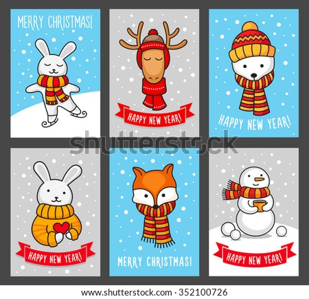 Stock images royalty free images vectors shutterstock for Cute creative christmas cards