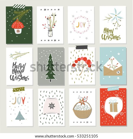 Collection  Christmas Card Templates Christmas Stock Photo Photo