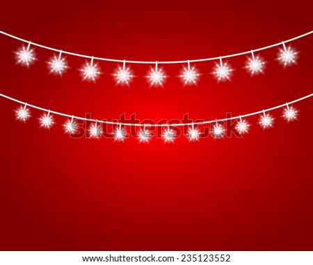 Collection of Christmas Garland Lights. Vector - stock vector