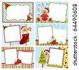Collection of Christmas greetings cards, postcards or photo farme (EPS10) - stock vector