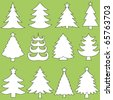 Collection of Christmas trees - stock vector
