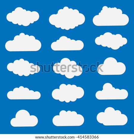 Collection of cloud icons