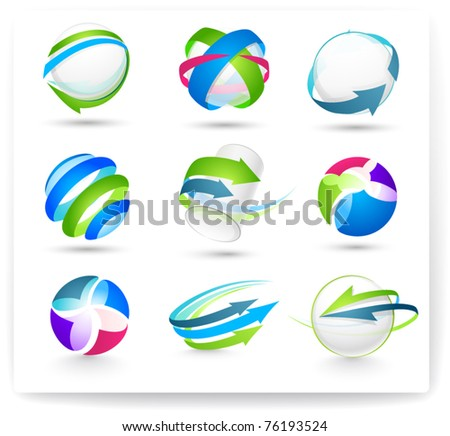Collection of color elements