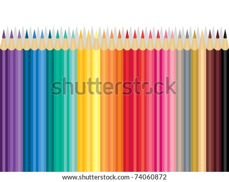 Collection of Color Pencil - stock vector