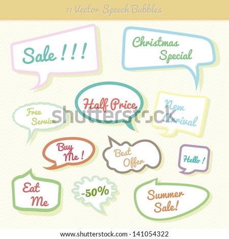 Collection of colorful speech bubbles Dialog Set - stock vector