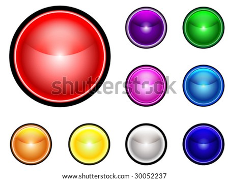 Collection of colorful spherical buttons