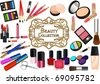 Collection of cosmetic elements - stock photo