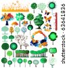 Collection of creative and original design nature theme vector elements. Vector file is easy editable, drawings grouped. - stock vector