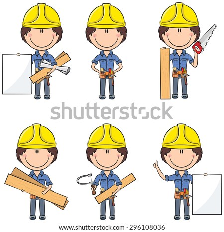Collection of cute and smart carpenters