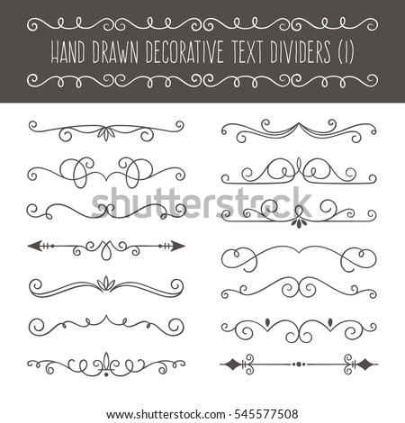 Collection cute hand drawn vintage borders stock vector 2018 collection of cute hand drawn vintage borders perfect for invitation cards and page decoration stopboris Choice Image