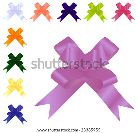 Collection of different colored bows for holidays. To see more please visit my gallery.