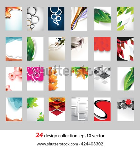 collection of 24 different conceptual design. eps10 vector - stock vector
