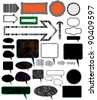 Collection of different design vector elements. - stock photo