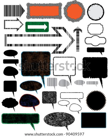 Collection of different design vector elements. - stock vector