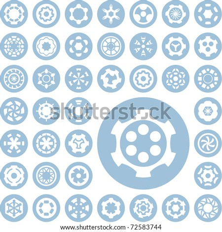 Collection of different graphic element for design. - stock vector