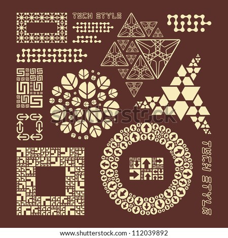 Collection of different graphic elements for design. - stock vector