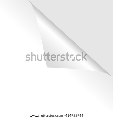 Collection of different white curled corners on the white background shadowed. Vector illustration. - stock vector