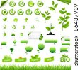 Collection Of Eco Elements, Isolated On White Background, Vector Illustration - stock photo