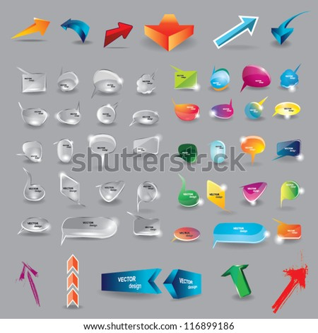 Collection of elements for web design - stock vector
