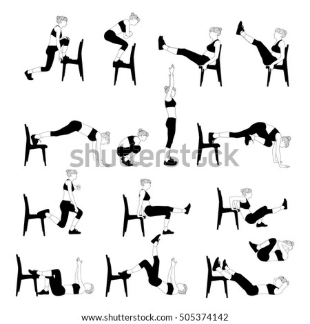 Chair Exercise Stock Images RoyaltyFree ImagesVectors