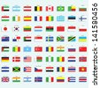 Collection of flags. Vector design. - stock photo