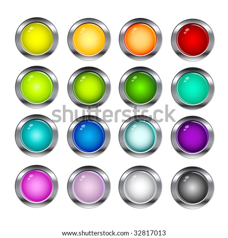Collection of glossy buttons
