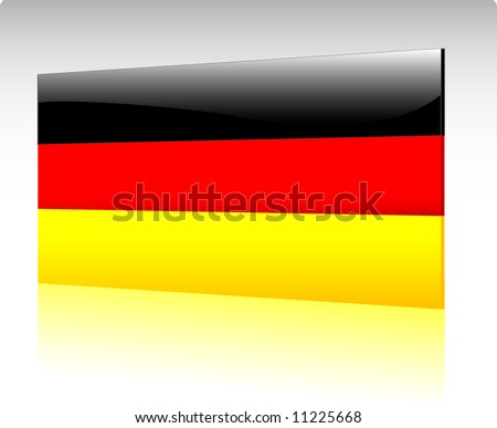Collection of glossy vectro country flags - Germany - stock vector