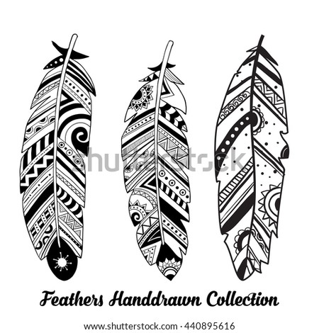 hand drawn feather stock images, royalty-free images & vectors