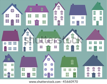 Collection of house icons - stock vector