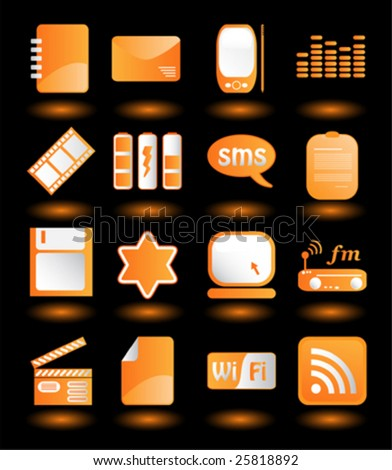 Collection of Icons - stock vector