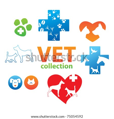 Collection of icons - Veterinary Medicine - stock vector