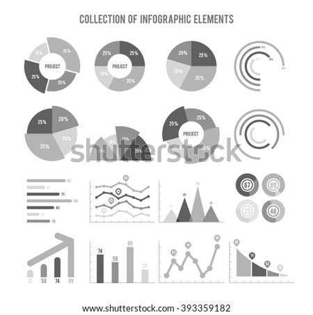 Collection Of Infographic Elements - stock vector