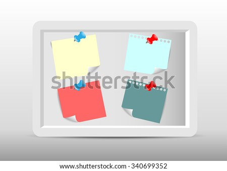 Collection of infographic set elements. stick note white 