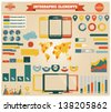 Collection of infographics elements - stock vector