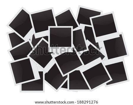 Collection of isolated vintage photo frames - stock vector
