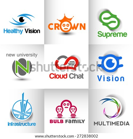Collection of  logo and symbol design - stock vector