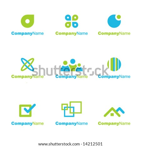 Collection of logo business signs. Design elements.