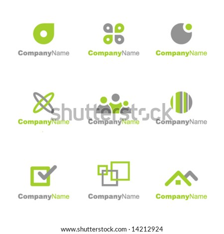 Collection of logo elements - stock vector