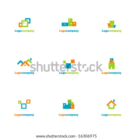 Collection of logotype  elements - stock vector